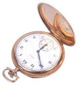 A 14k Elgin full hunter pocket watch
