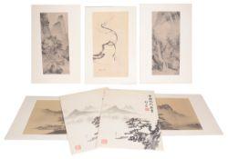 A Japanese folio of prints