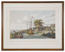 William Alexander 'View of the Lake Pao-Yng where it is separated from the Grand Canal by an embankm