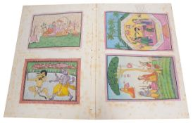 A fine collection of 19th century Indian watercolour paintings based on the paintings at Sheikhupura