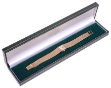 A 9ct gold Omega ladies wristwatch,