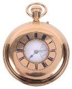 An 18k gold Camerer Kuss & Co London half hunter gentlemans pocket watch