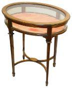 An Edwardian mahogany bijouterie table
