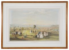 After John Turnbull Thompson, 'View of Singapore Town from Government Hill', 1846, lithograph printe