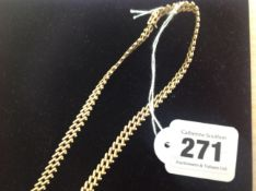 An Continental fancy weave articulated 14K gold necklace,
