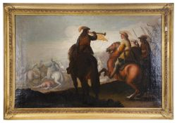 Follower of Palamedes late 17th century 'Battlescene'