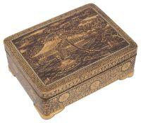 A Japanese Komai box, Meiji period,