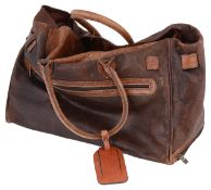 An Adpel brown leather travel bag