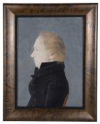 A Georgian gentleman in profile, late 18th/early 19th century