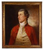 Attributed to Tilly Kettle (1735-1786) 'Portrait of Robert Becher' Lieutenant of East India Company