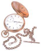 A 9ct Bravingtons Renown full hunter pocket watch,