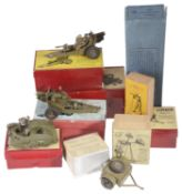 A collection of W Britain boxed Military vehicles