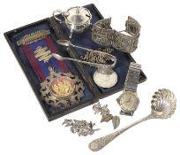 A Victorian cased Masonic Past Grand jewel, hallmarked London 1894