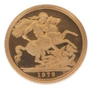 A Royal Mint Queen Elizabeth gold sovereign, dated 1979