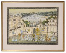 An early 20th century Indian Rajasthani painting