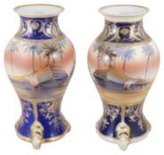 A pair of Japanese Noritake porcelain vases