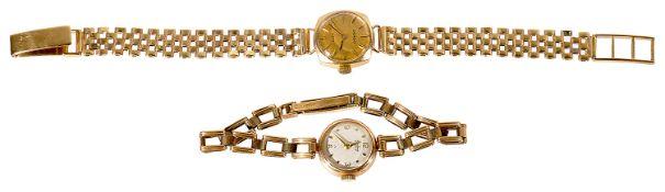 A 9ct gold Imado ladies wristwatch and a 9ct gold Bentima Star ladies wristwatch
