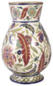 A Zsolnay Pecs ceramic vase, late 19th century