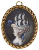 A 19th century miniature portrait on ivory of Marie Antoinette