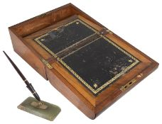 A Victorian mahogany writing slope