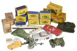 A collection of Dinky and Matchbox Series A Moko Lesney toy vehicles