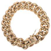 An 18ct gold hollow large link curb link bracelet