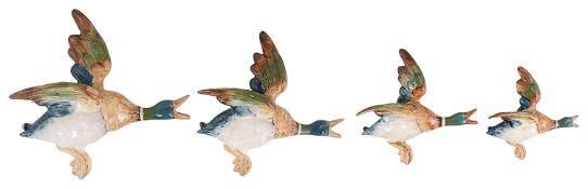 A set of Beswick flying mallards