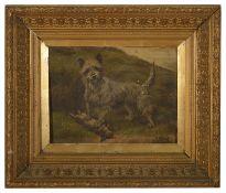 British school 'Highland terrier with catch'