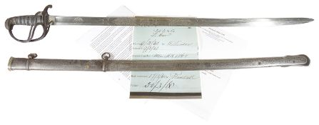 A Victorian Light Cavalry Officers Sword by Henry Wilkinson Pall Mall London