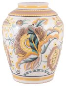 A Carter Stabler and Adams Poole pottery baluster vase, early 20th century
