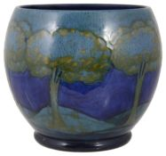 A William Moorcroft 'Moonlit Blue' landscape pattern small jardiniere