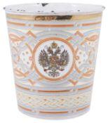 A Russian enamel Khodynka beaker, late 19th century