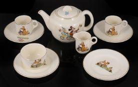 A Beswick pottery 'Disney' childrens part tea service