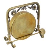 A brass and copper table gong, early 20th century