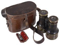 A set of T J Williams Cardiff binoculars