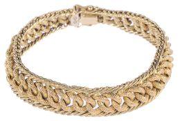 A Continental 18ct gold fancy link bracelet