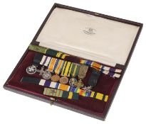 A set of Royal Army Medical Corps dress medals for Captain S.R. Gibbs R.A.M.C. (TF)