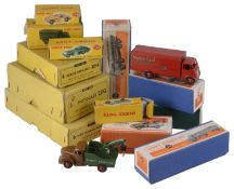 A collection of boxed Dinky toys vehicles