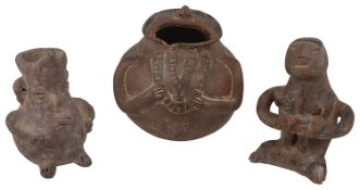 Three interesting pre-Columbian pieces of pottery