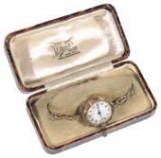 A 9ct gold ladies wrist watch