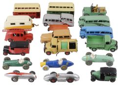 A collection of loose Dinky toy vehicles