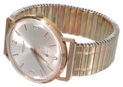 An 18k gold Pryngeps gentleman's wristwatch