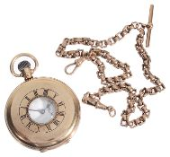 A 9ct gold Limit half hunter gentleman's pocket watch