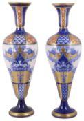 A pair of James Macintyre & Co Burslem 'Aurelian' baluster porcelain vases,
