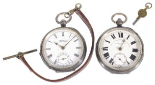 An Edwardian silver cased Fattorini & Sons Bradford open faced gentleman's pocket watch, hallmarked