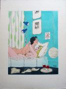 Smilby, Francis Wilford-Smith 'Waterbed - in case of fire' cartoon