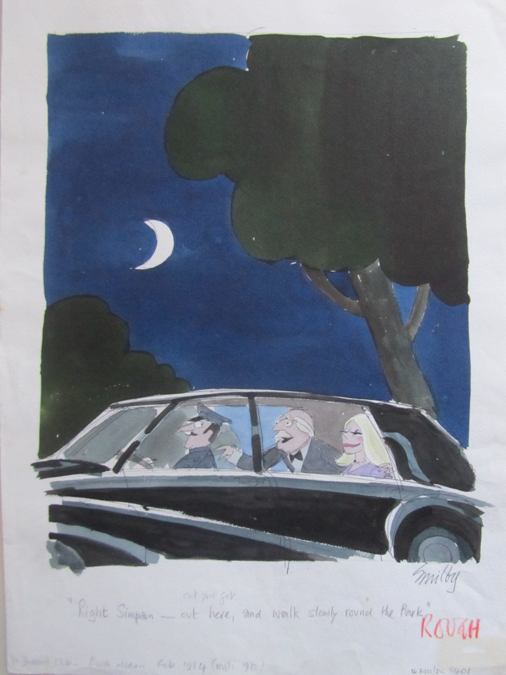 Lot 29 - Smilby, Francis Wilford-Smith 'Right Simpson - out you get and walk slowly round the park'