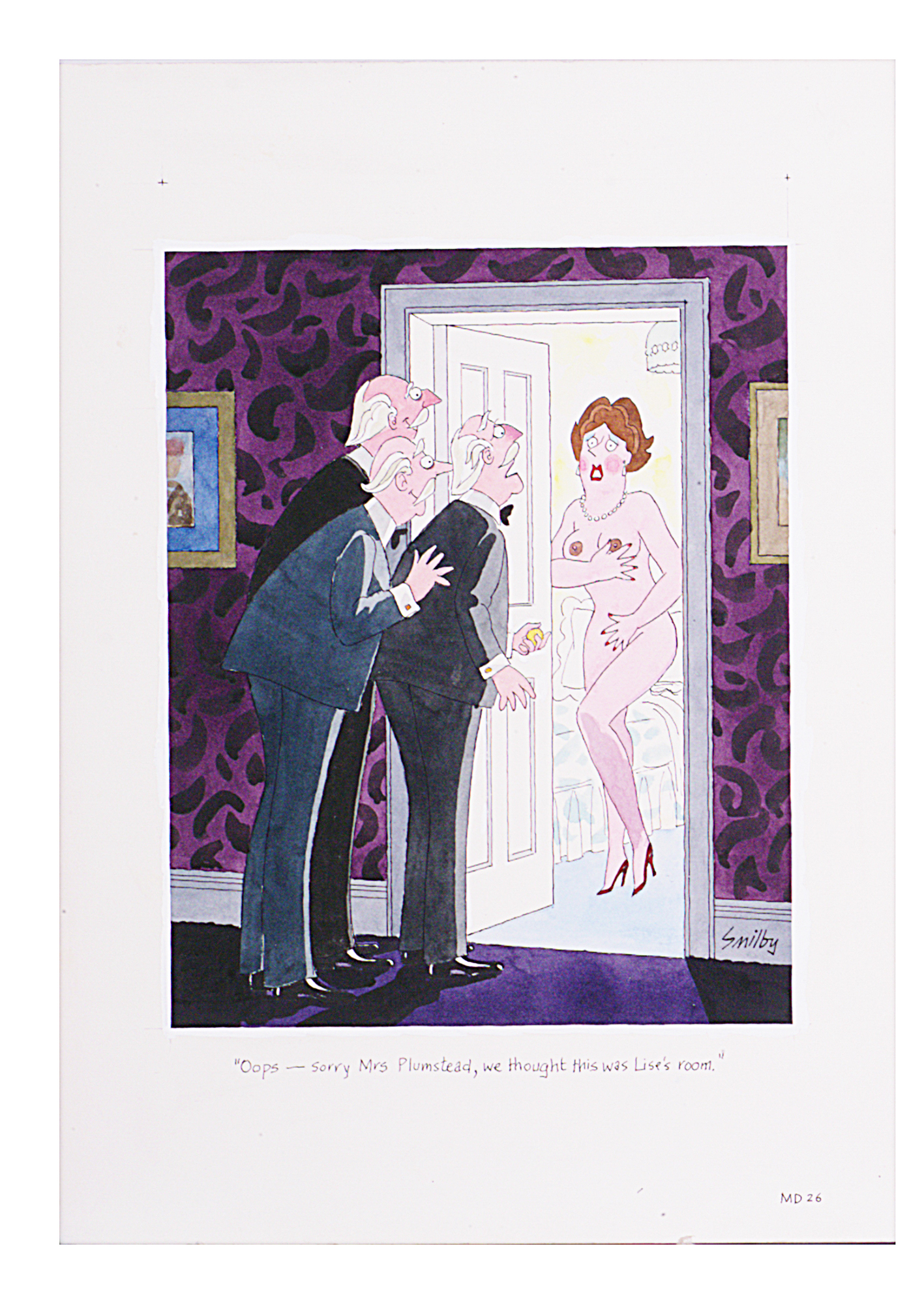 Lot 20 - Smilby, Francis Wilford-Smith 'Oops - sorry Mrs Plumstead, we thought this was Lise's room'