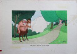Smilby, Francis Wilford-Smith seven cartoon artworks possibly for Pardon Magazin Germany