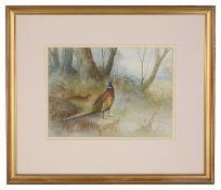 A watercolour signed A. Schuck, dated 21 /1/18, framed and mounted